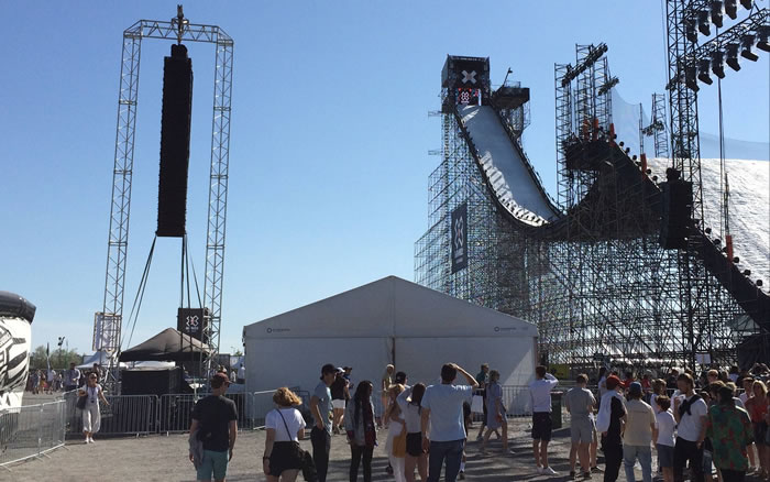 Goal Post at the X Games in Oslo